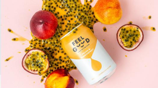 FEEL GOOD DRINKS sparkling water is helping the world feel better one sip at a time