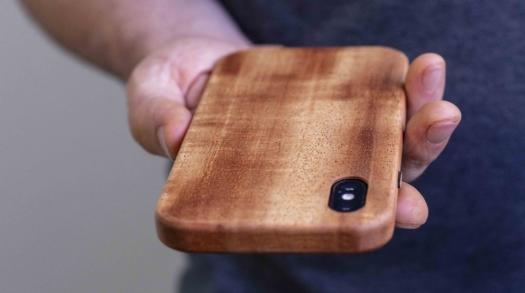 KerfCase crafts beautiful, sustainable mobile phone cases out of reclaimed wood